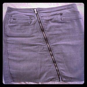 Marc By Marc Jacobs Grey Denim Zipper Skirt